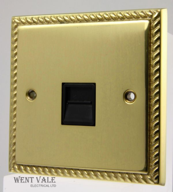 Heritage Brass Georgian Range - G966BN - 1g Secondary Telephone Socket